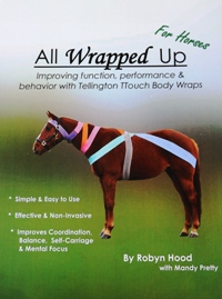 A horse wears Tellington TTouch bodywraps