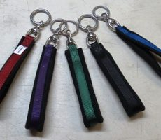 TTouch Harmony Handles are fleece lined and slide on a leash.